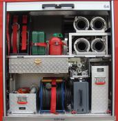 Feuerwehr Heusweiler Löschbezirk Kutzhof Fahrzeug LF 8/8, Funkrufname 7/42, Geräteraum 4