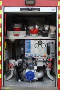 Feuerwehr Heusweiler Löschbezirk Kutzhof Fahrzeug LF 8/8, Funkrufname 7/42, Pumpenbedienstand