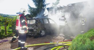 Einsatz 2015-09-30 Garagenbrand