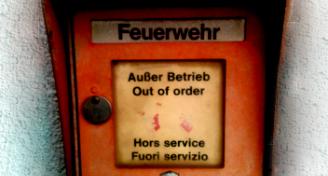 Feuermelder, außer Betrieb